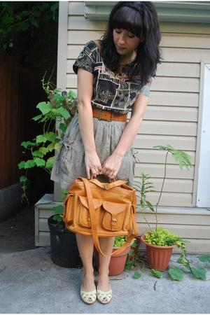 top - kensie skirt - vintage belt - vintage purse