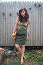 Green-vintage-skirt-brown-mac-jac-blouse-beige-vintage-shoes-beige-vinta