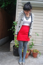 Zara t-shirt - vintage skirt - BB Dakota sweater