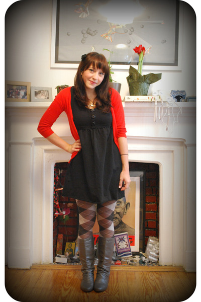 Zara sweater - kensiegirl dress - f21 tights
