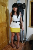 mayle top - vintage belt - Forever21 skirt - vintage purse - winners shoes