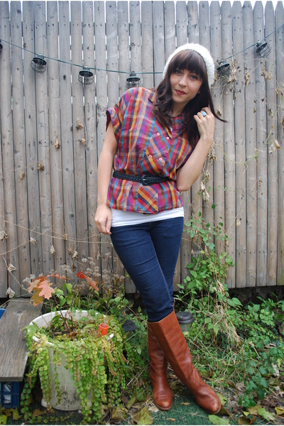 vintage shirt - Cheap Monday jeans - Dexter boots