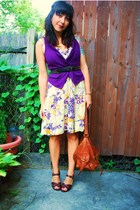 UO vest - vintage dress - UO belt - Scorah Pattullo shoes