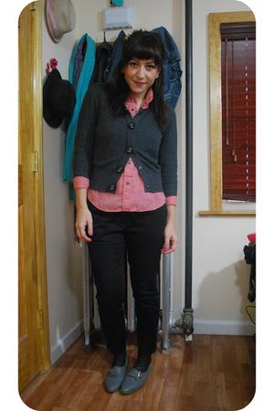 vintage shirt - Forever21 sweater - kensiegirl pants - Jeffrey Campbell shoes