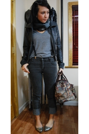 Zara - Cheap Monday jeans - American Apparel t-shirt - H&M jacket