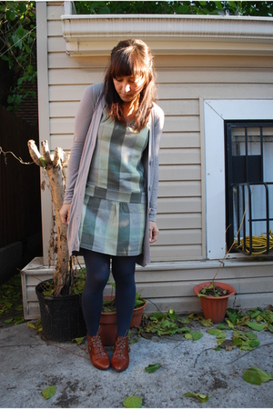 volcom dress - Jeffrey Campbell boots - kensiegirl sweater
