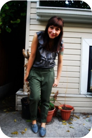 UO pants - kensie top - Jeffrey Campbell shoes