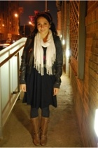 H&M jacket - American Apparel skirt - American Apparel tights - Forever21 scarf