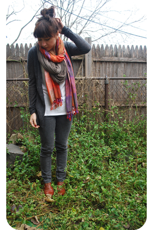 Cheap Monday jeans - Bindya scarf - Jeffrey Campbell shoes