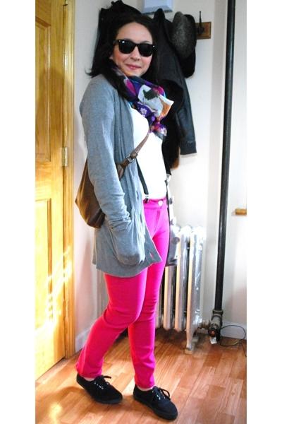 kensiegirl pants - kensiegirl - Bindya scarf - vintage purse - H&M - American Ap