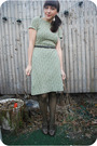 Green-vintage-dress-green-free-people-stockings-gray-seychelles-shoes