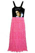 ELVIS PRESLEY 1950S RUFFLE MAXI DRESS GOWN