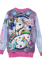 Kitten Fairies Unicorn All Over Printed Long Sleeve Sweater