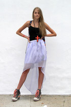 periwinkle IDILVICE FASHION skirt - carrot orange rock candy wedges