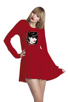 Abby Sciuto NCIS Photo Printed Long Sleeve Peplum Mini Tunic Dress