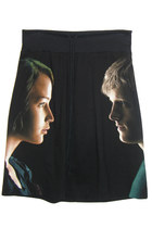 Rare 2012 Hunger Games KATNISS & PEETA Facing Each Other Tshirt Skirt