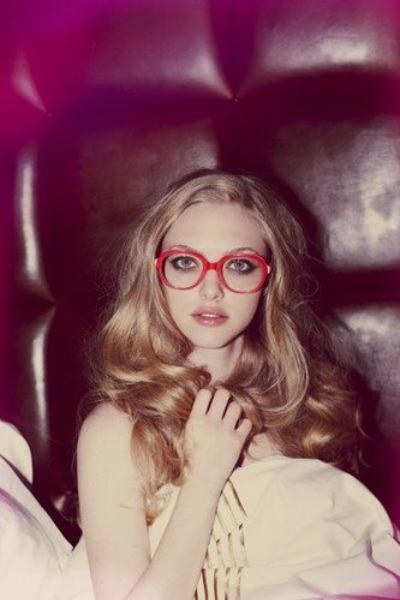 red vintage glasses
