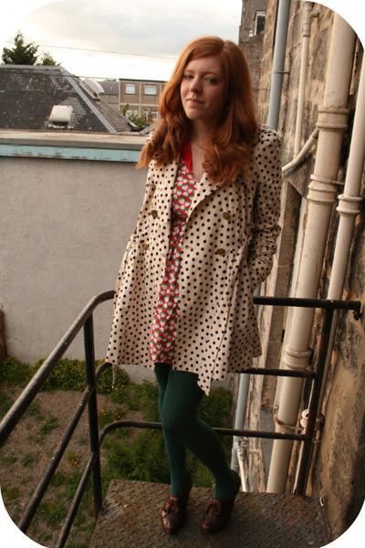 beige Topshop coat