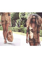 shorts H&M suit - strappy Steve Madden heels
