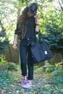 Black-pleather-cotton-on-hat-black-cut-out-trouve-blouse