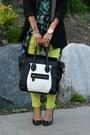 Neon-pacsun-jeans-embellished-zara-blazer