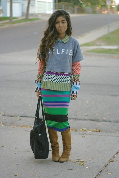 heather gray crop top SincerelyJules t-shirt