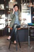 gstar raw jeans - hand piece lionette by noa sade bracelet