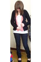 jacket - blouse - top - jeans