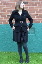skirt - jacket - - tights