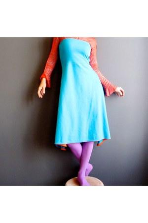 turquoise blue iheartfink skirt