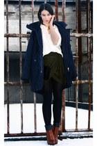 army green Isabel Marant skirt - tawny Alexander Wang boots