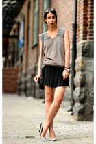Zara heels - Alexander Wang sweater - VANESSA BRUNO skirt
