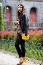 light yellow Christian Louboutin heels - black Diesel jeans