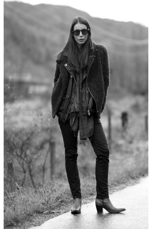 army green Isabel Marant jacket - black Diesel jeans