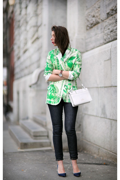 green acne blazer