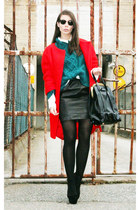 H&M Trend coat - Bianco shoes - H&M Trend sweater - Malene Birger purse