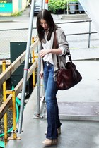 Topshop heels - Koton shirt - manual bag - H&M cardigan