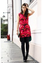 black Stella McCartney boots - hot pink Alexander McQueen dress