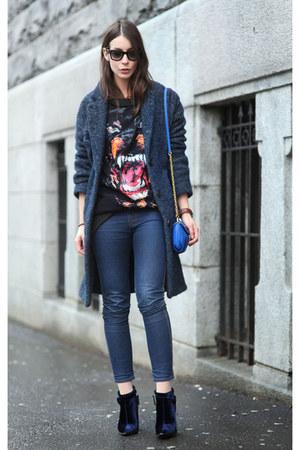navy thakoon boots - navy Isabel Marant coat