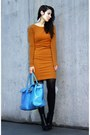 Black-alexander-wang-boots-red-h-m-trend-dress-burnt-orange-h-m-trend-coat