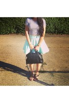 H&M skirt - Rebecca Minkoff bag - Sam & Libby sandals - crop top garage top