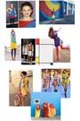 Blue-forever21-skirt-yellow-nike-shoes-white-cotton-leopard-macys-shirt
