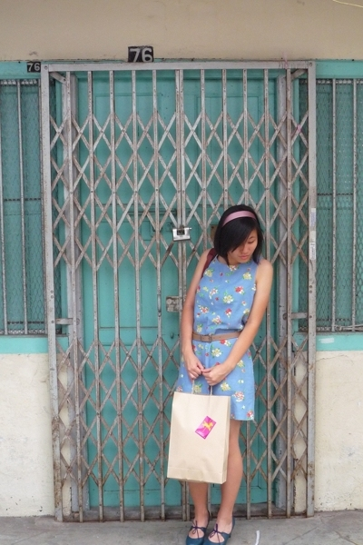 Laura Ashley dress - belt - victoria jomo shoes - from chinatown accessories