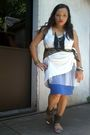 White-thrifted-dress-blue-random-from-us-skirt-random-accessories-black-te