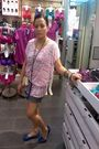 White-m-top-levis-shorts-beige-givenchy-purse-purple-random-from-hong-kong