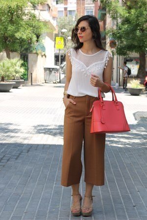 Zara top - Primark bag - Zara pants