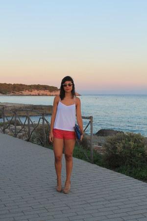 Zara shorts - Stradivarius blouse