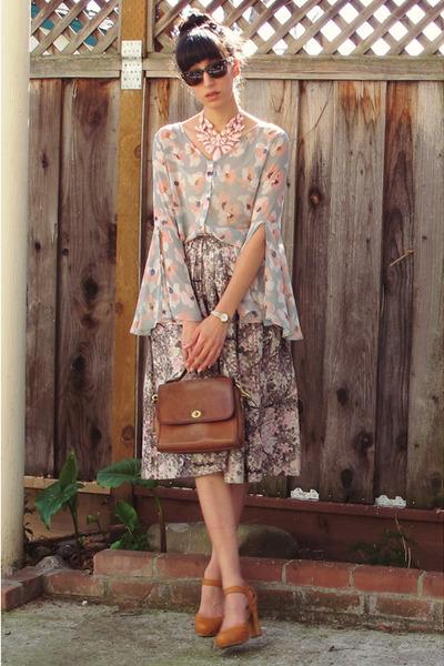pink vintage skirt