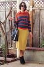 chartreuse skirt