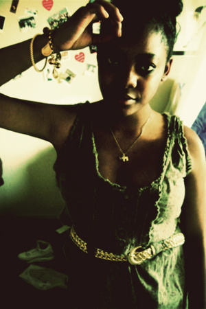 thrifted - belt - bracelet - necklace